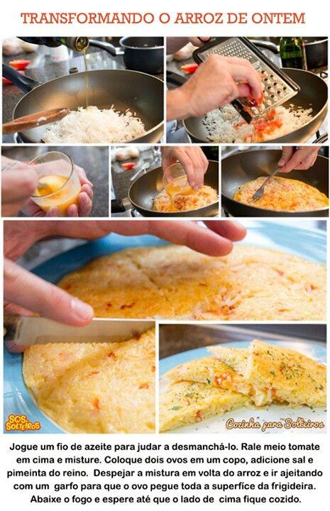 Reaproveitando arroz
