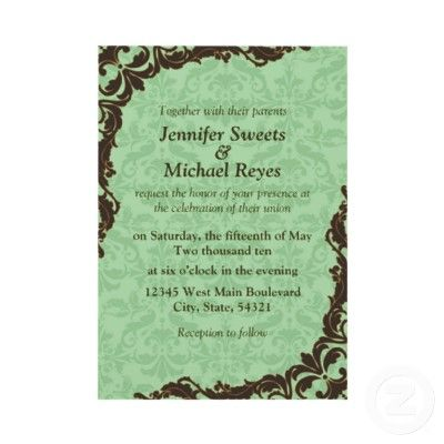These are nice invitations. They also work with our  color scheme.