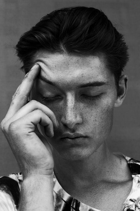 """James Hoar at Nevs Model Agency photographed by Sophie Mayanne in this week's editorial """"An Urban Adventure"""". Styling by Kitty Cowell. James wears t-shirt by SNCL. See full editorial here."""