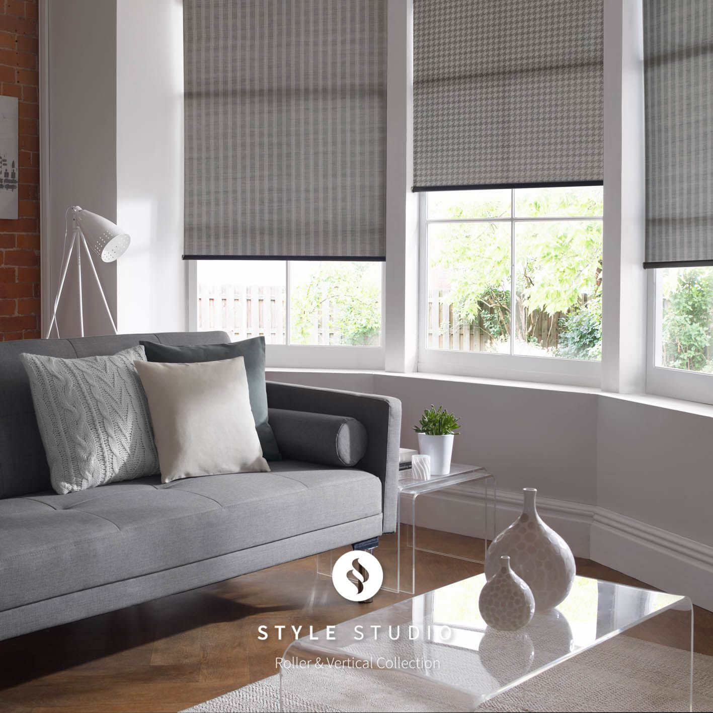 Roller Blind by Eclipse Bute and Iona Charcoal Fabrics ROLLER