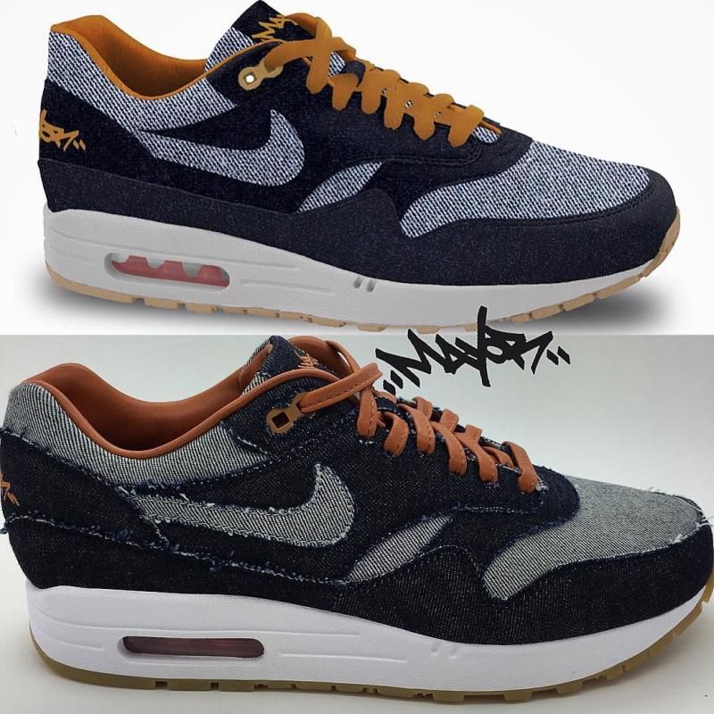 denim nike air max 1 bespoke solecollector am1 2016 releases