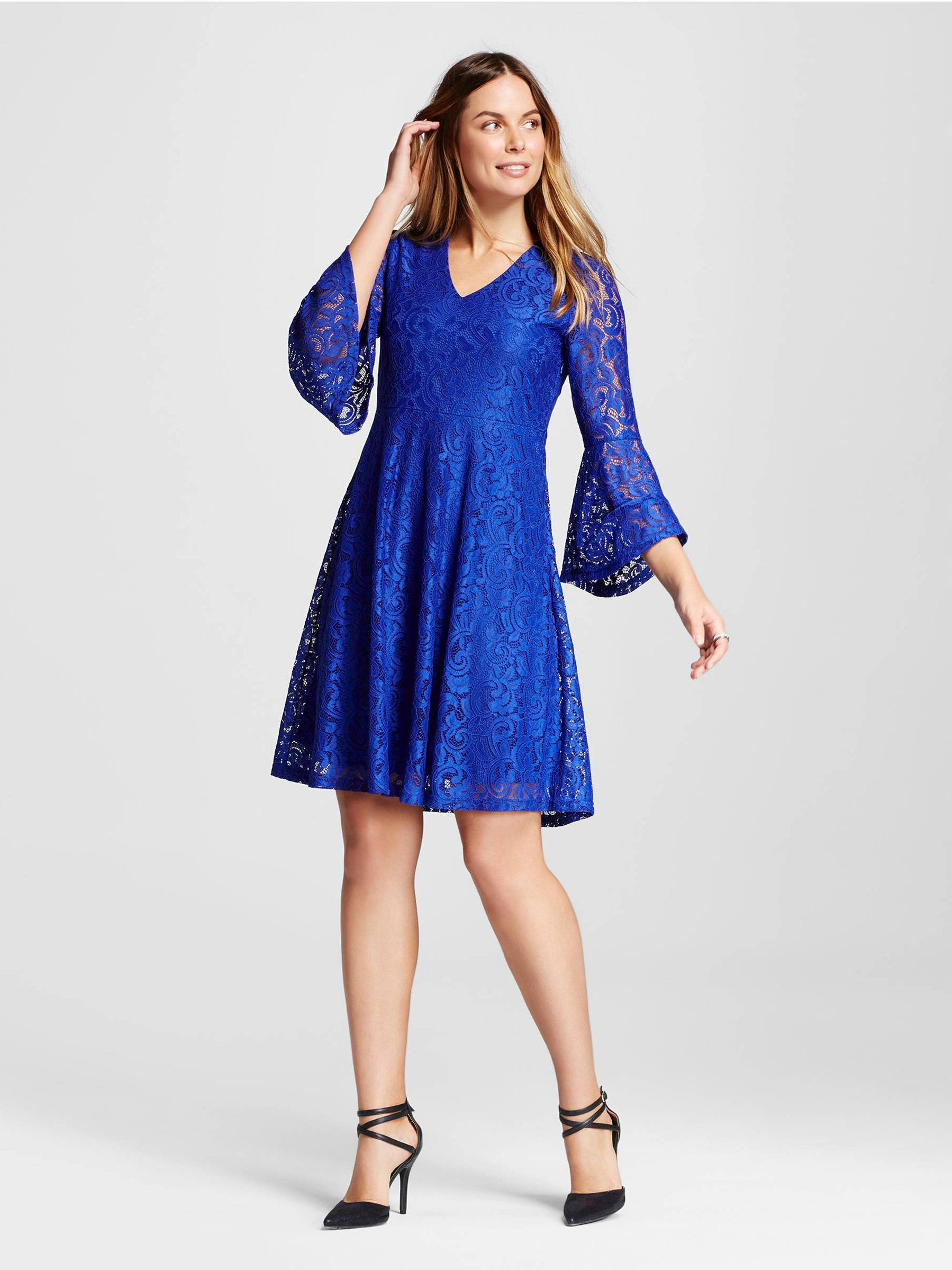 Ideas & Advice by The Knot Blue lace dress outfit, Lace