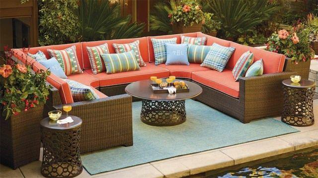 Garten Möbel Rattan Sofa Sessel Ideen Designs Deko