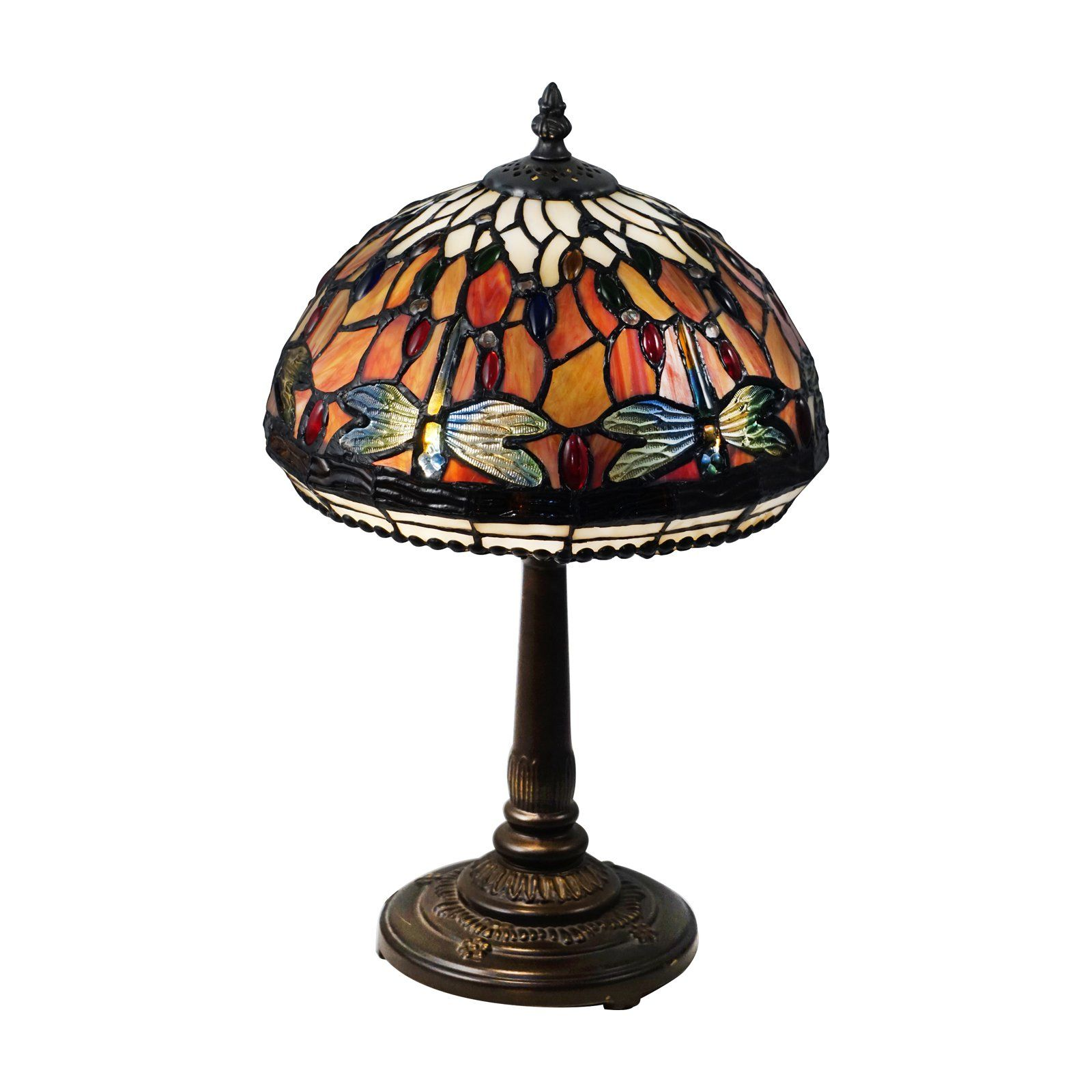 Dale Tiffany Tavis Dragonfly Tiffany Table Lamp Tiffany Table