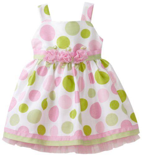 Sweet Heart Rose Baby-Girls Infant Polka Dot Dress With Diaper Cover