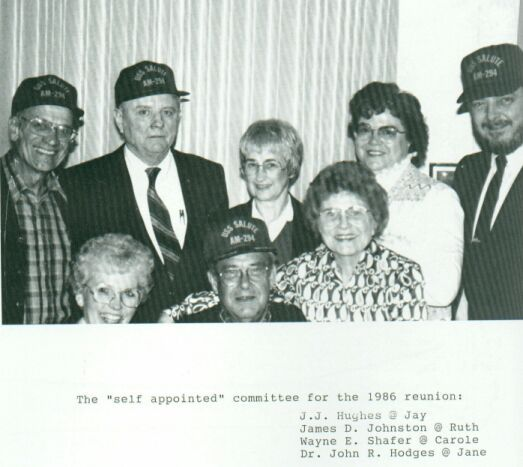 USS Salute first reunion committee, 1986