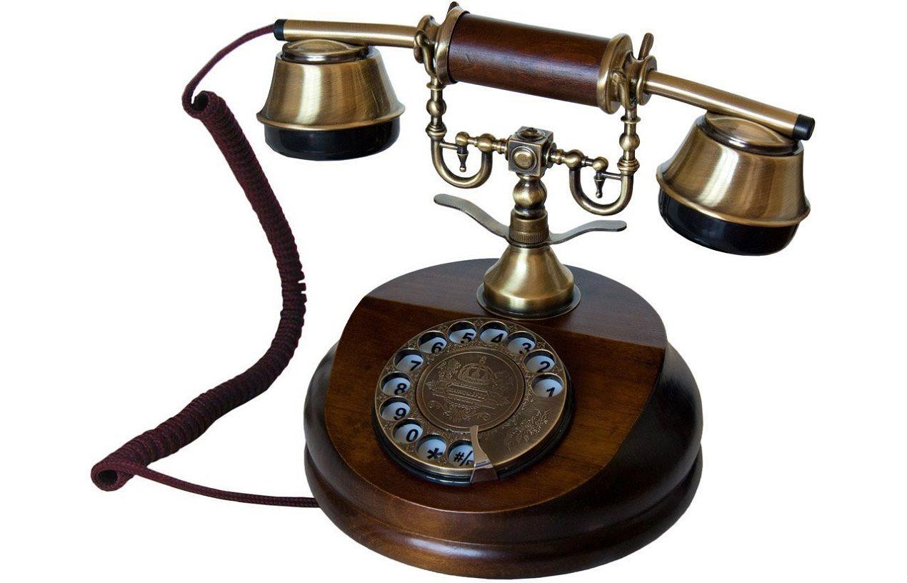 Retro Telefon Telefon Holz Telefon Altes Telefon Nocstalgie