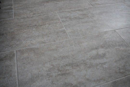Bathroom floor tile complete groutable vinyl tile trafficmaster ceramica in cement home depot for Groutable vinyl tile in bathroom