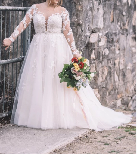 Elegant A Line Long Sleeves Plus Size Lace Wedding Dress 671 In 2020 Wedding Dresses Lace Wedding Dress Styles Chart Wedding Dresses,Blue Tie Dye Wedding Dress