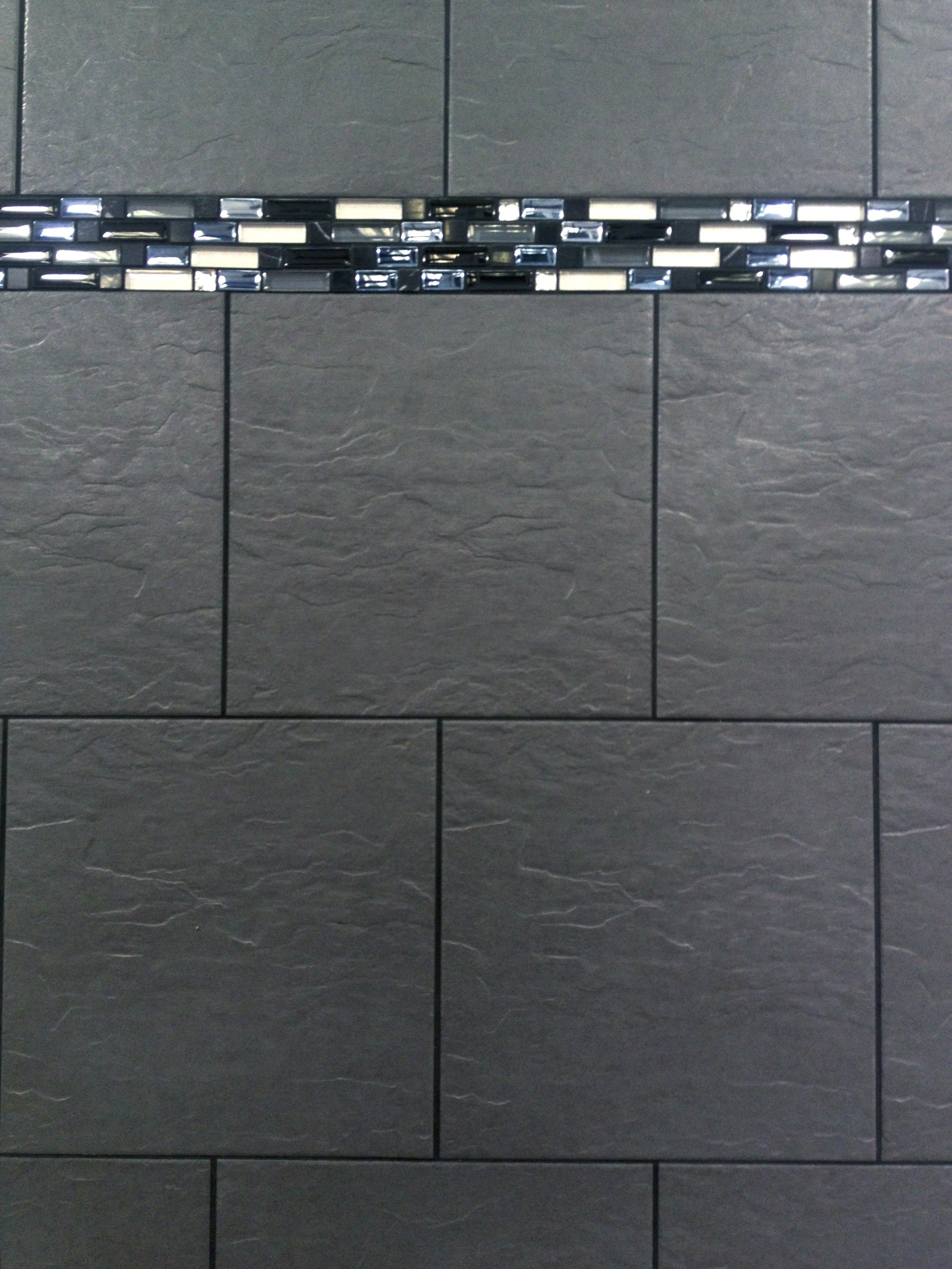 aztec black 30x30 wall u0026 floor porcelain riven slate effect