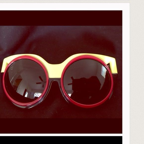 Coco&Breezy sunglasses Black, yellow and red bold sunglasses. No scratches on either lens or frames. Only used twice :) Coco and Breezy Accessories Glasses