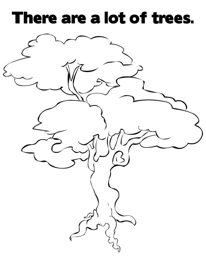 Coloring Pages Tree Of Life Tree Coloring Page Fruit Coloring