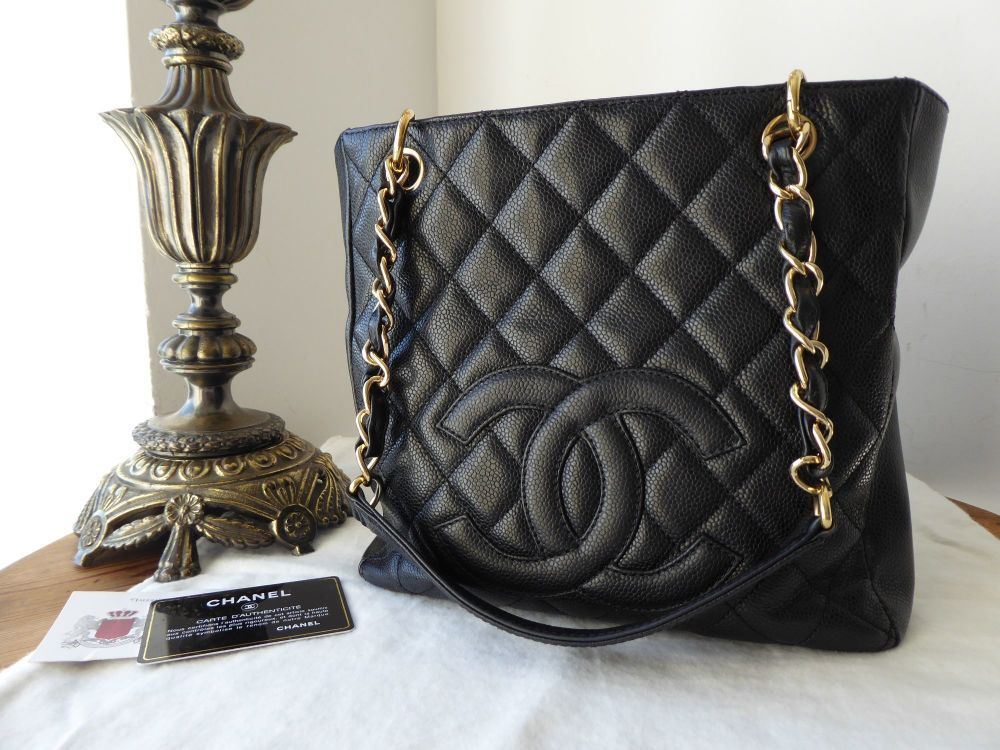 6da77d2d4b79 Chanel Petite Shopping Tote PST in Black Caviar with Gold Hardware >  https:/