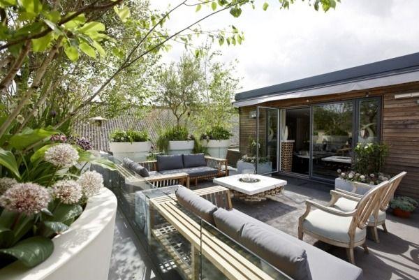 terrasse design-möbel dachgarten | pool & patio | pinterest, Gartenarbeit ideen