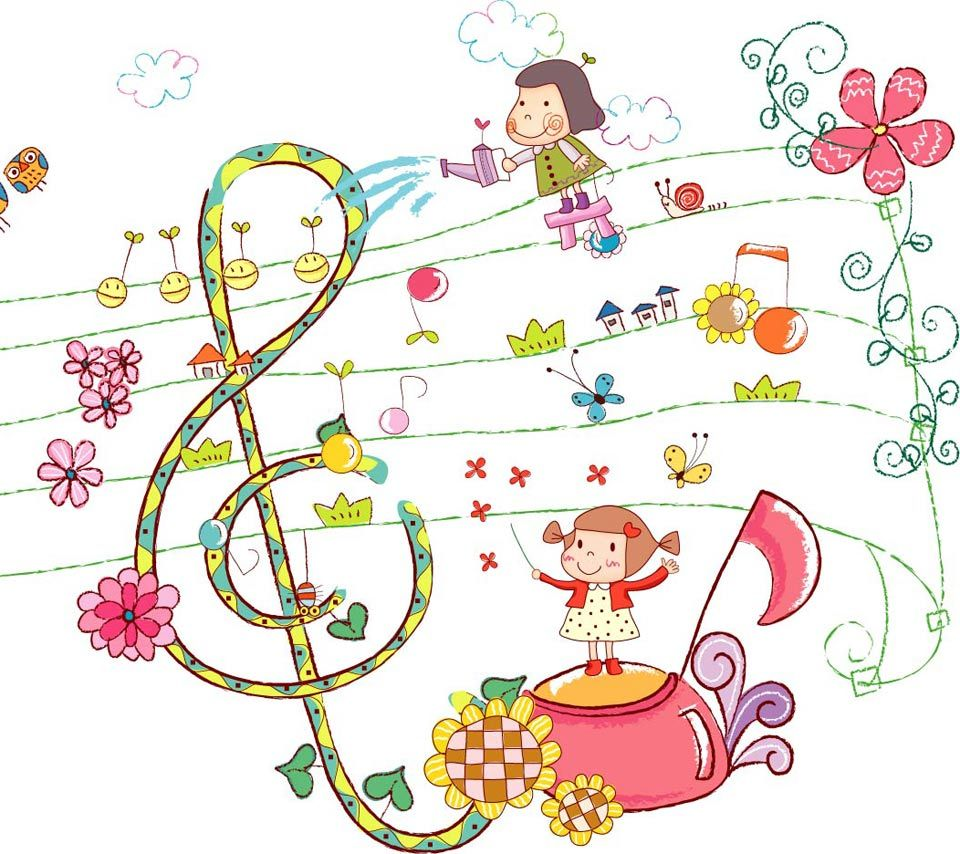 music cartoons pictures | music,cartoon,note,letter,kid,girl,cute ...