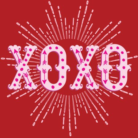 XOXO Valentineu0027s Paper Party goods licensed by Design Design - fresh blueprint paper color