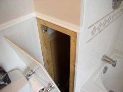 Another Clever Way To Hide Bathroom Plumbing Access Panel