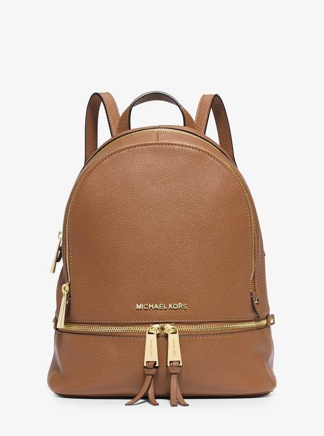 michael michael kors rhea medium leather backpack bags pinterest rh pinterest com