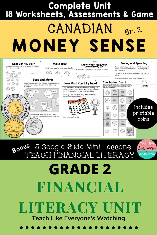Canadian Money Worksheets Money Sense Canadian Money Money Worksheets
