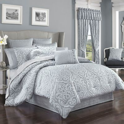J. Queen New York™ Harrison Comforter Set In Chrome   Www.BedBathandBeyond.