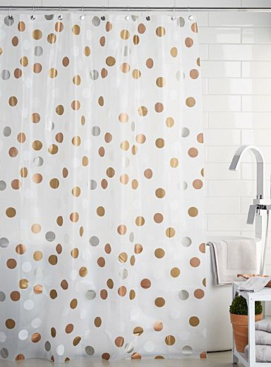 A Decorative Touch In Chic And Elegant Scandinavian Style With Large Printed Discs Metallic Gold Silver Copper Accents
