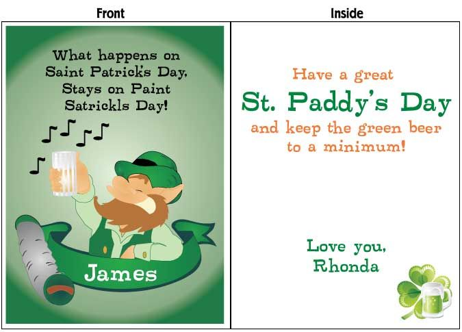 St Patrick S Day Card Available In 2 3 And 4 Sizes Free Shipping St Patricks Day Cards St Patricks Day St Patrick