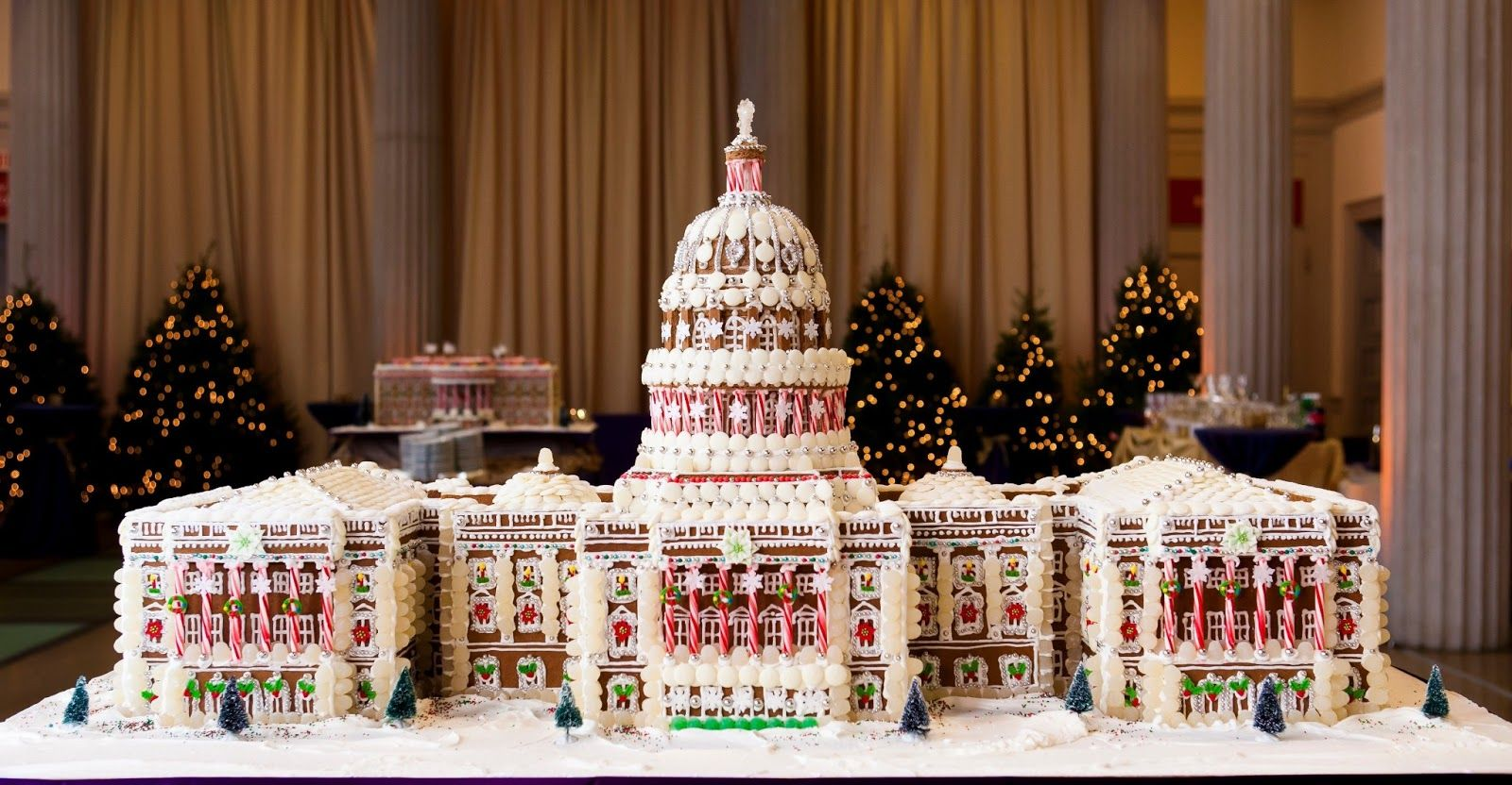 This amazing gingerbread Capitol is from Windows Catering Company