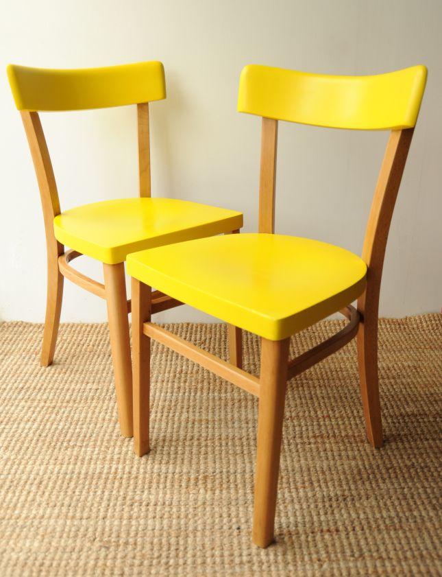 CHAISES JAUNE:AMBIANCE | Cuisine | Pinterest | Chaises jaunes ...