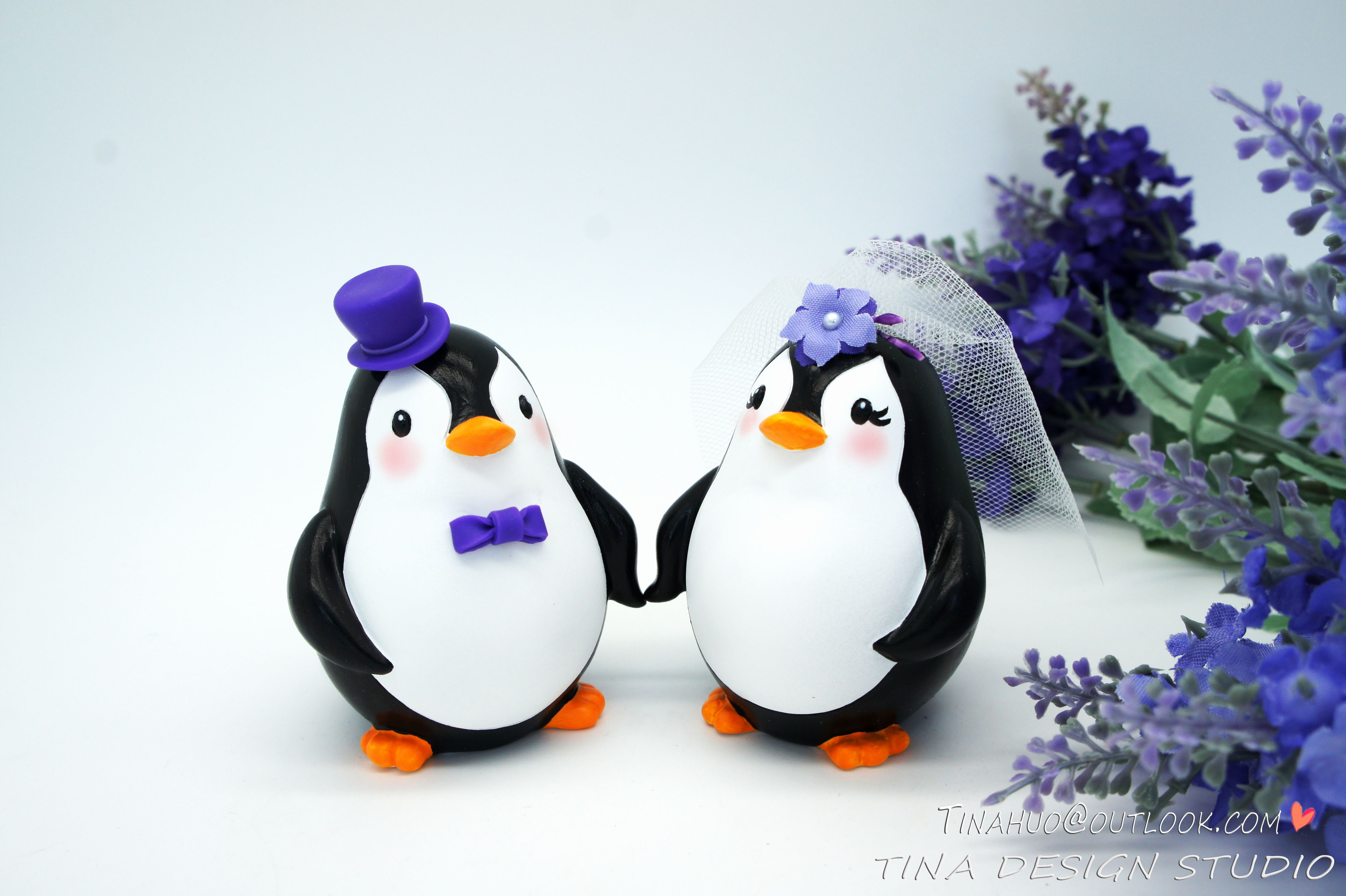 Magnificent Penguin Wedding Cake Topper Vignette - The Wedding Ideas ...