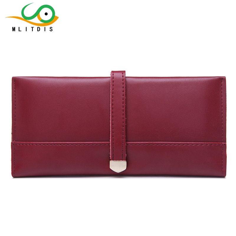 MLITDIS 2017 new European women's hands long interval internal bills fashion purse clip buckle card drop shipping