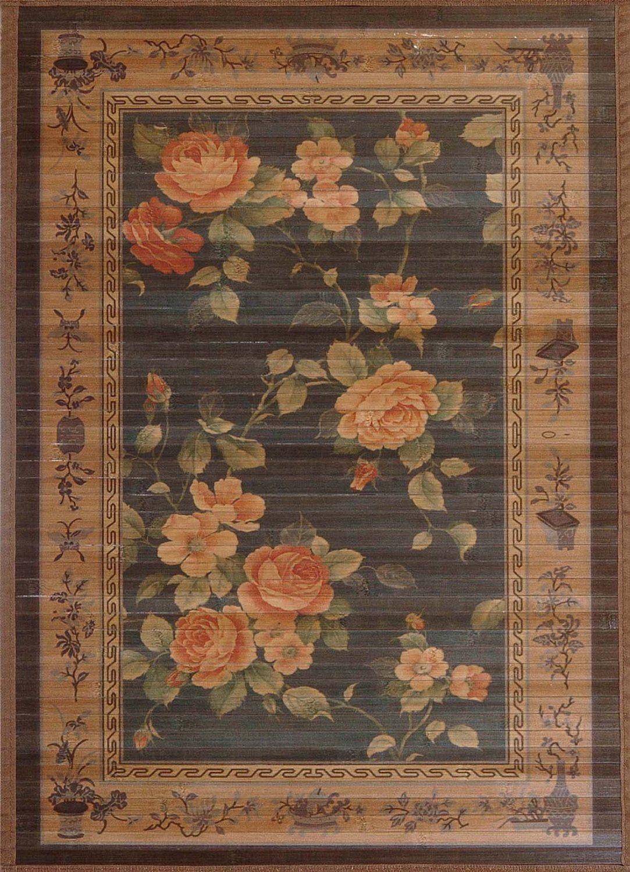 3 X 5 Bamboo Floor Rug W Oriental