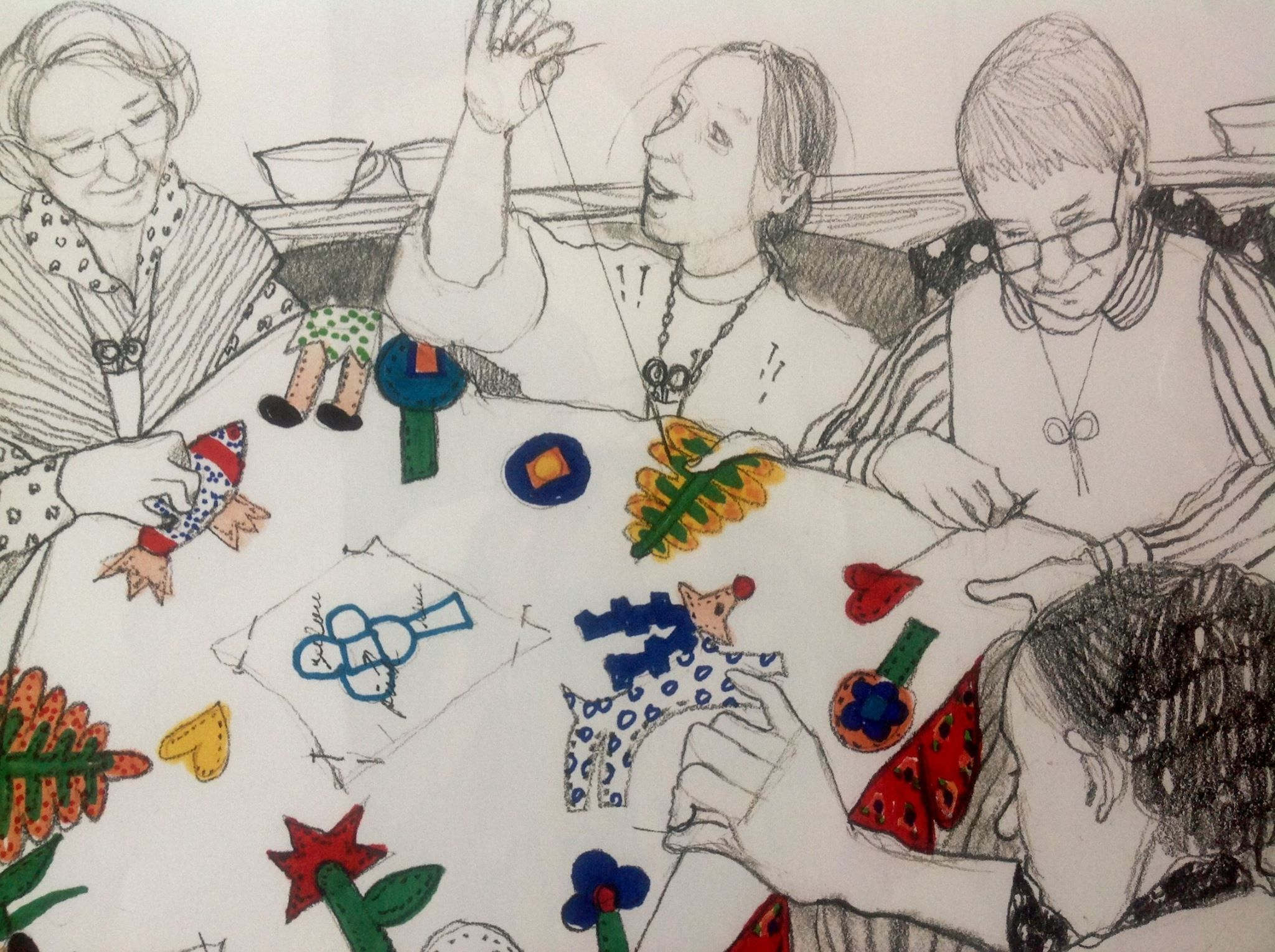 The Keeping Quilt Patricia Polacco Art Sketches