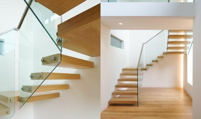 Geländer aus Glas und anderen Materialien, 50 Traumtreppen Haus - schlafzimmer farben feng shui