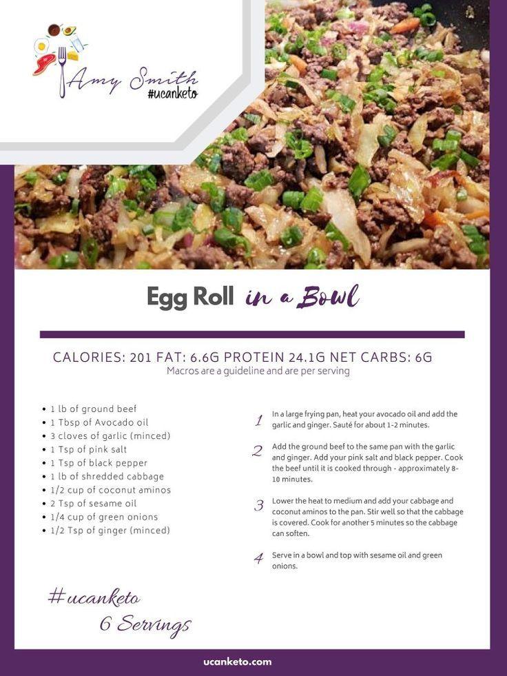 Eggroll in a Bowl - #ucanketo   - Intermittent Fasting - #Bowl #Eggroll #fasting #Intermittent #ucanketo #eggrollinabowl