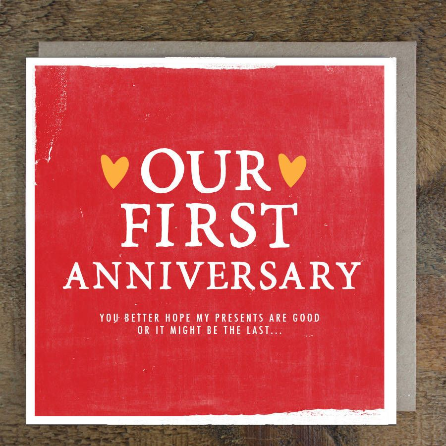 Our First Anniversary Card 1st Anniversary Cards Design With