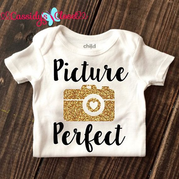 4e913a6334f3 BabyGirl Clothes  Picture Perfect  Onesie Baby by CassidyCloset