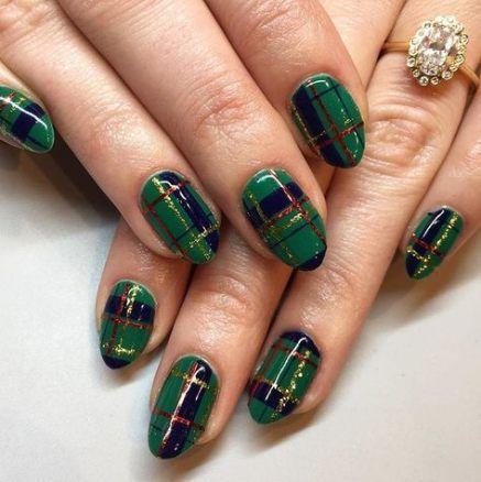 holiday nails green 20 ideas nails holiday  almond