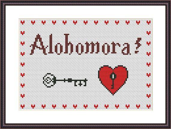 Harry Potter Funny Cross Stitch PDF Pattern Alohomora