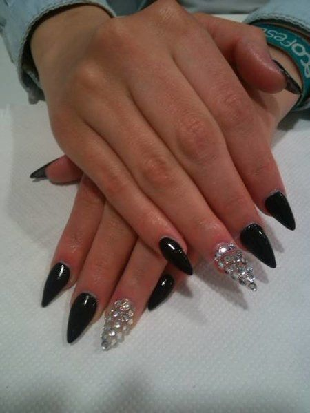 Bling Bling Stiletto Nails Nails Pinterest Bling
