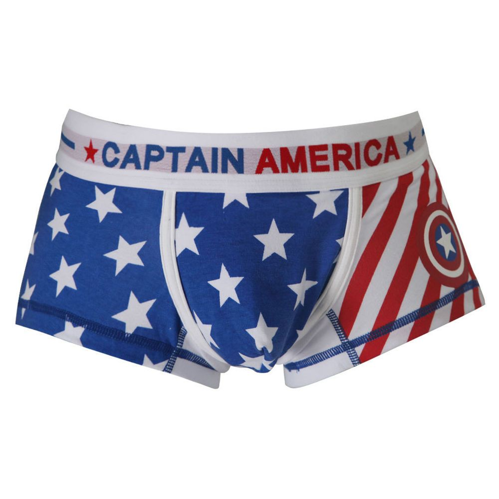 32b43a3da4 2 Men s superhero boxer shorts S-XL Captain America underwear in Clothes