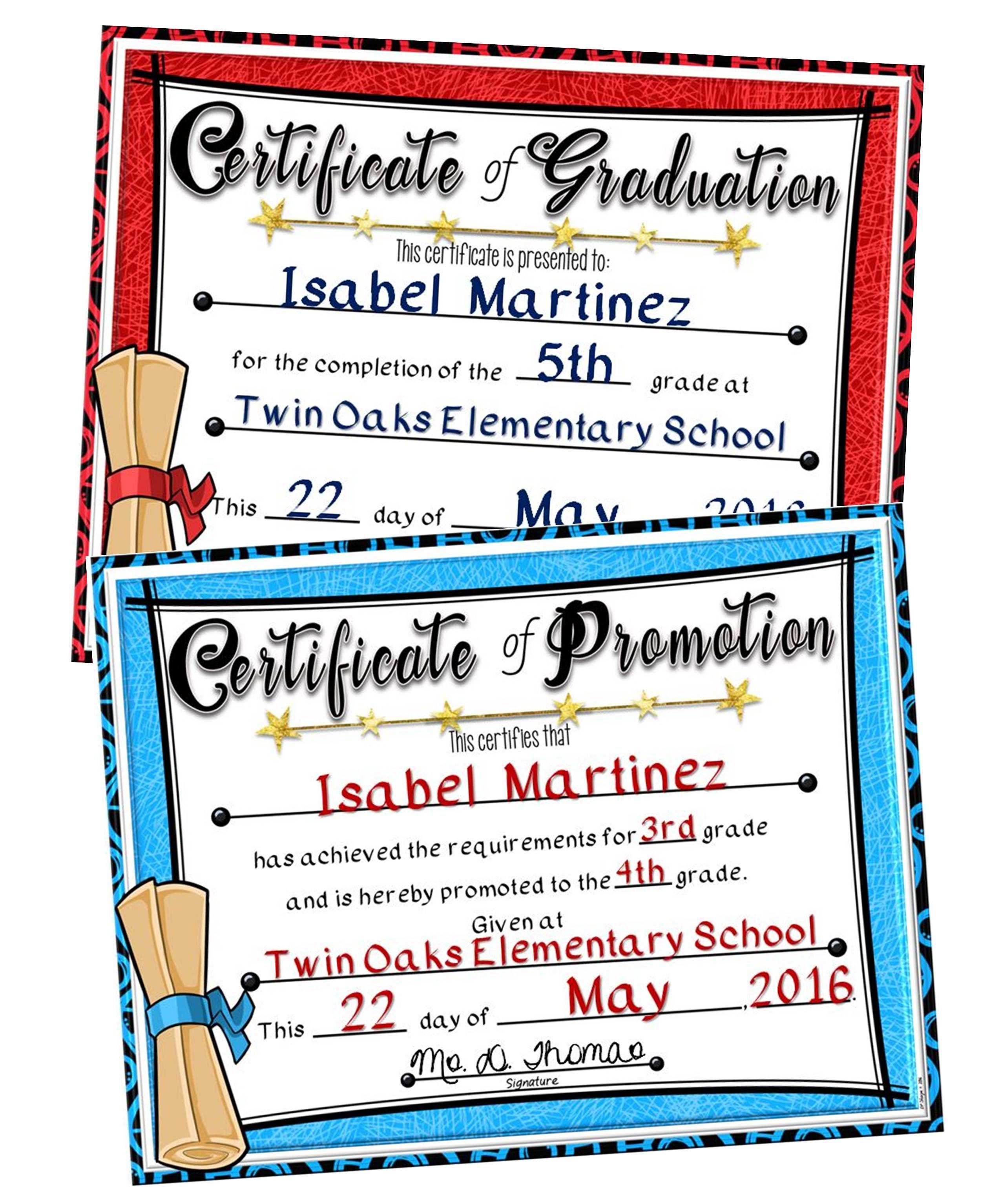 Graduationpromotion Certificates Tpt Pinning Board Pinterest