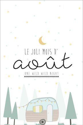 Carte Postale Du Mois D Aout A Imprimer Printable Planner Et