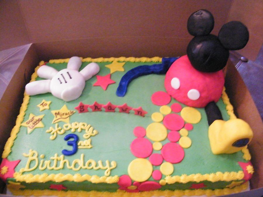 mickeymousebirthdaysheetcakes Sheet cake with buttercream