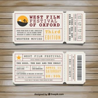 west film festival of oxford event ticket example tickets