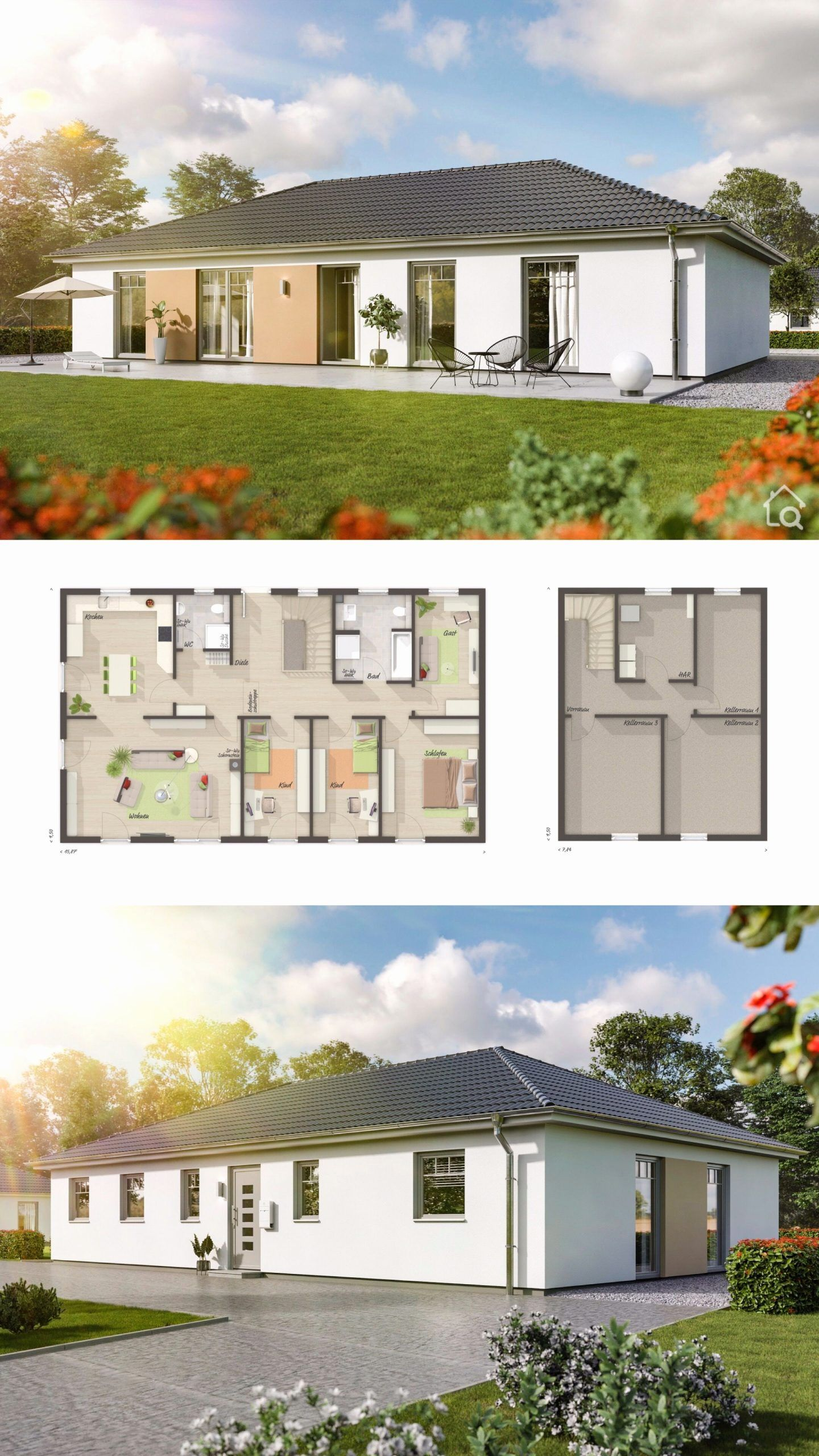Hip Roof House Plans Contemporary New Bungalow House Architecture Design Floor Plan With 4 B Cottage Style House Plans Colonial House Plans Cottage House Plans