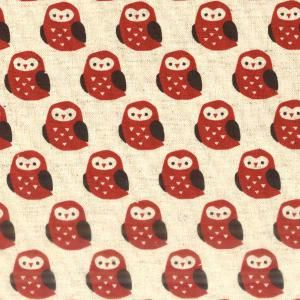 Red owl fabric