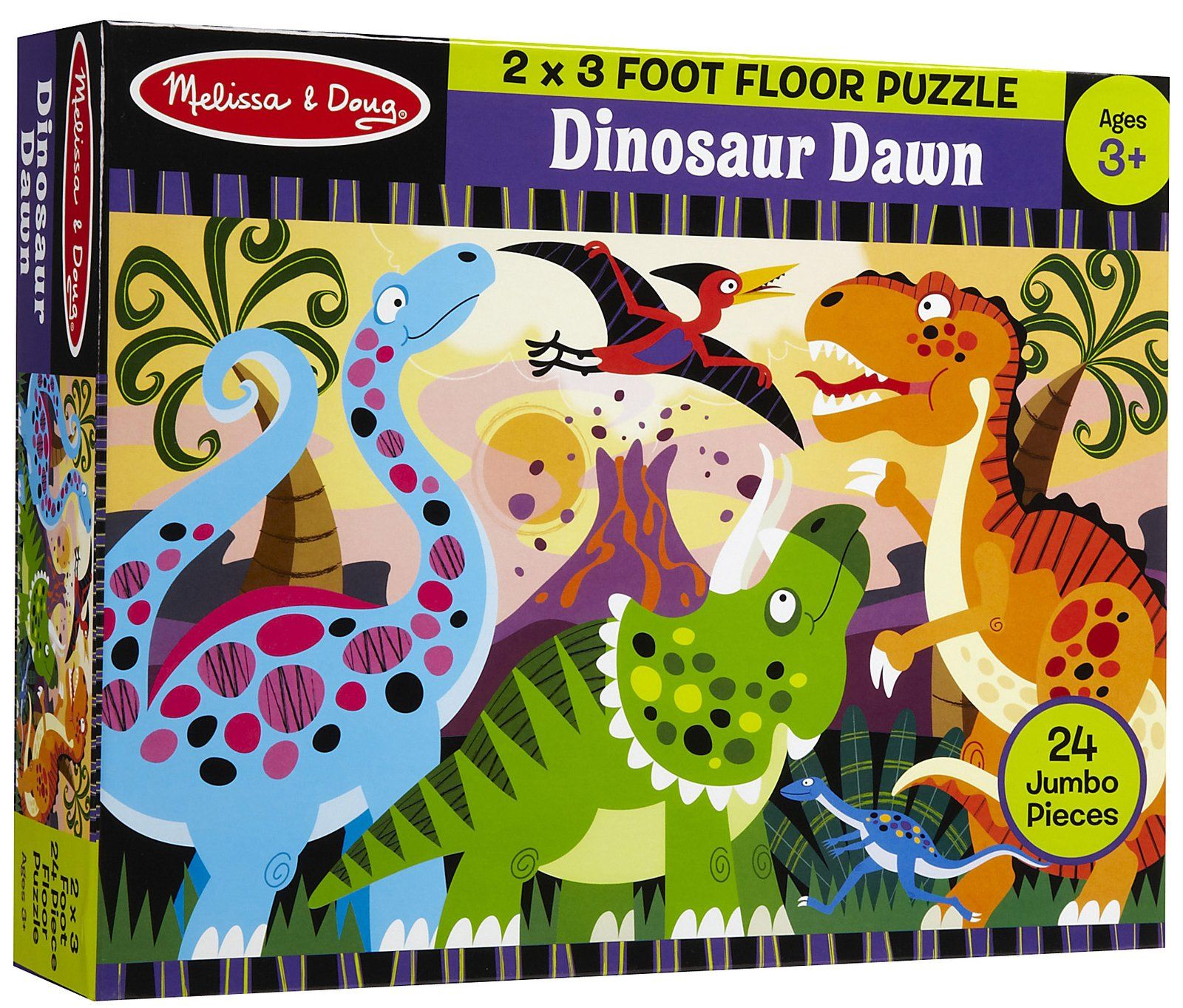 Exceptional Melissa U0026 Doug Dinosaur Dawn Floor Puzzle (24 Pc)
