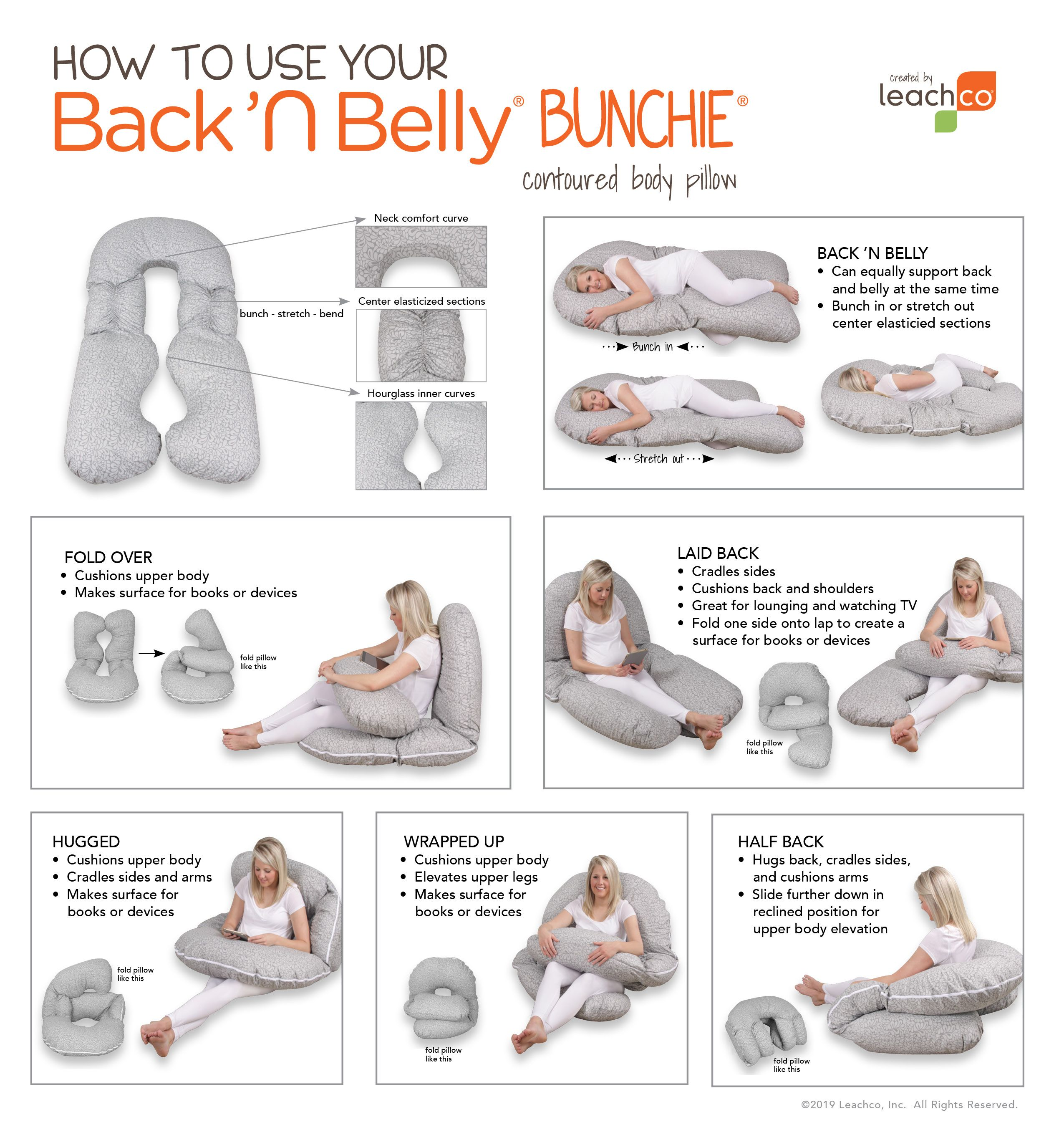 Back N Belly Bunchie In 2020 Postpartum Care Kit Body Pillow Snoogle Pillow