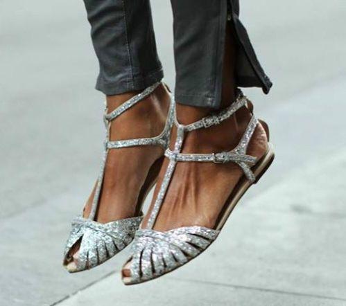 Zara Flat Black Sparkle Glitter Sandals Gladiator Ankle Straps Sz 39 Uk 6 Us 8 Ebay Shoe Boots Glitter Flats Boots