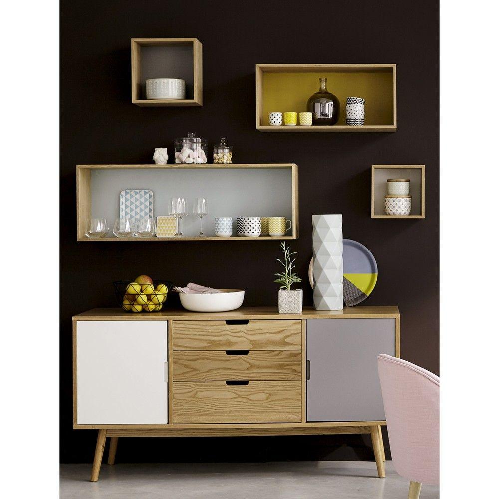 buffet vintage 2 portes 3 tiroirs idee deco buffet. Black Bedroom Furniture Sets. Home Design Ideas